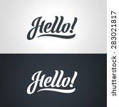 hello hand lettering. handmade... | Shutterstock .eps vector #283021817