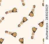 boy character  seamless pattern | Shutterstock .eps vector #283023029