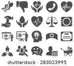 medical icon set. style  icons... | Shutterstock . vector #283023995