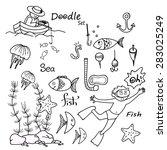 hand drawn sea set.   Shutterstock .eps vector #283025249