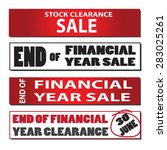 set of end of financial year... | Shutterstock .eps vector #283025261