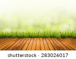 fresh spring grass with green... | Shutterstock . vector #283026017