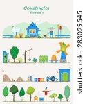 vector constructor   eco farm   ... | Shutterstock .eps vector #283029545