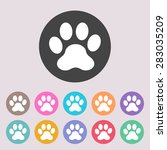 paw icon. set of colored icons. | Shutterstock .eps vector #283035209