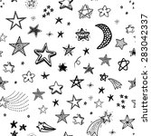 hand drawn seamless pattern... | Shutterstock .eps vector #283042337