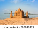 Taj Mahal Made Of Sand On The...