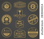retro labels set. retro vintage ... | Shutterstock .eps vector #283044014