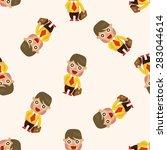office workers  seamless pattern | Shutterstock .eps vector #283044614
