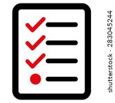 checklist icon from business... | Shutterstock .eps vector #283045244