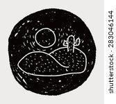 desert doodle | Shutterstock .eps vector #283046144