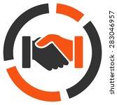 handshake diagram icon from... | Shutterstock .eps vector #283046957