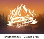 summer camp typography design... | Shutterstock .eps vector #283051781