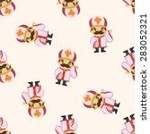 pastor and nun  seamless pattern | Shutterstock .eps vector #283052321