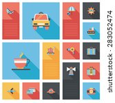 traveling flat ui background   Shutterstock . vector #283052474