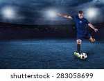 professional soccer or football ... | Shutterstock . vector #283058699