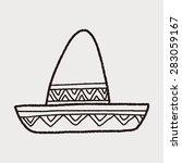 mexican hat doodle | Shutterstock .eps vector #283059167