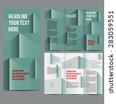 editable a4 brochure design... | Shutterstock .eps vector #283059551