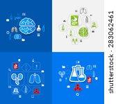 medicine sticker infographic | Shutterstock .eps vector #283062461