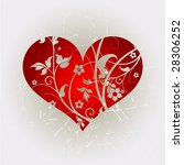 grunge floral heart shape 3 | Shutterstock .eps vector #28306252