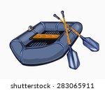 Illustration Of Inflatable Boa...