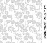 clover seamless pattern  eps 8 | Shutterstock .eps vector #283074191