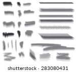 vector. engraving brushes set.