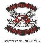 skull helmet piston | Shutterstock .eps vector #283082489