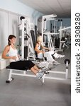 fitness. young caucasian women... | Shutterstock . vector #28308280