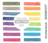 watercolor rainbow stripes made ... | Shutterstock .eps vector #283089197