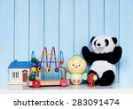 Toy House  Old Vintage Panda ...