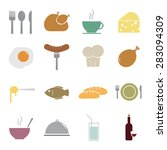 food icons set | Shutterstock .eps vector #283094309
