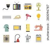 home appliances icon  | Shutterstock .eps vector #283096787
