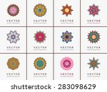 mandalas collection. vintage... | Shutterstock .eps vector #283098629