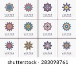 mandalas collection. vintage... | Shutterstock .eps vector #283098761
