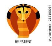 flat cobra snake head | Shutterstock .eps vector #283100054
