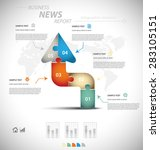 business infographic template... | Shutterstock .eps vector #283105151
