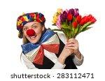 Pretty Female Clown With...