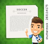 green background with soccer... | Shutterstock .eps vector #283114175