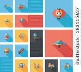 kid toys flat ui background | Shutterstock . vector #283115627