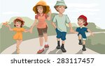 family walk in the park | Shutterstock . vector #283117457