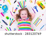 Child With Draw And Paint...