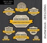 set of vintage label design... | Shutterstock .eps vector #283123061