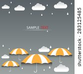 umbrella orange and rain... | Shutterstock .eps vector #283125485