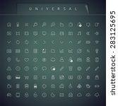 universal thin icons set