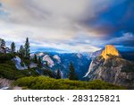 half dome rock yosemite... | Shutterstock . vector #283125821