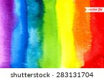 rainbow  watercolor texture.... | Shutterstock .eps vector #283131704