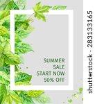 vector illustration of summer... | Shutterstock .eps vector #283133165