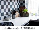 kitchen utensils  decor and... | Shutterstock . vector #283134665
