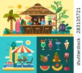 summer vacation in a tropical... | Shutterstock .eps vector #283135721