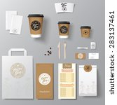 coffee shop corporate identity... | Shutterstock .eps vector #283137461